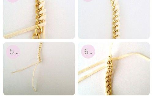 DIY Chain Woven Bracelet Tutorial diy bracelet