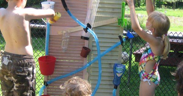 Water Wall - DIY Wasserspiele für Kinder | Schnickschnack | Pinterest |  Garten, Selber machen und Wasser