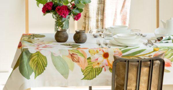 Mantel y servilleta estampado digital floral manteles y for Servilletas papel zara home