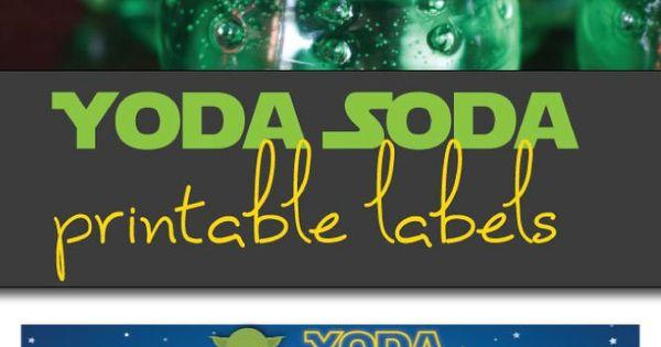 Yoda Soda Printable Labels Star Wars Party Printable