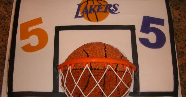 Basketball cake - This was for a 5 year old's party who loved ...