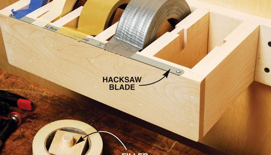 Craft room- Great idea! Maybe make a portable one? Tape dispenser -