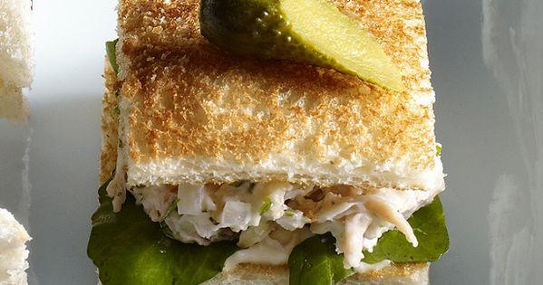 #ChickenSalad TeaSandwich