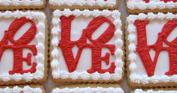 LOVE Cookie Favors from Whipped Bakeshop