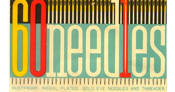Vintage Sewing Needle Packaging