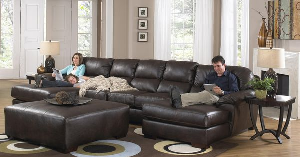 lawson two chaise sectional sofa with five total seats by jackson furniture wolf furniture. Black Bedroom Furniture Sets. Home Design Ideas