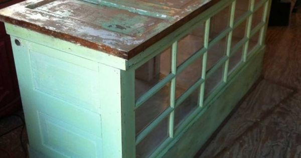 Turn Old Doors Into A Kitchen Island Or Cabinet These Are Awesome Upcycled Repurposed Ideas