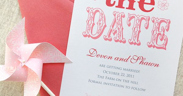 Wedding Save the Dates from Lasso'd Moon + Gorgeous Custom Designs —