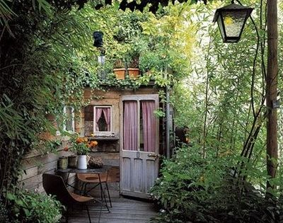 I want a garden porch! garden porch patio door greenery