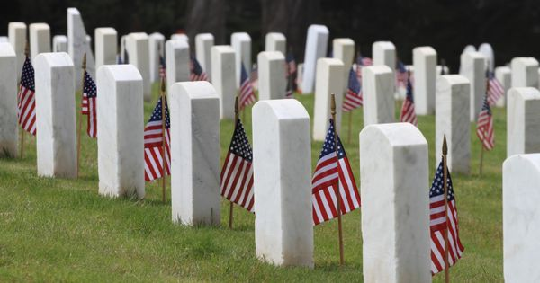 memorial day ceremony at los angeles national cemetery
