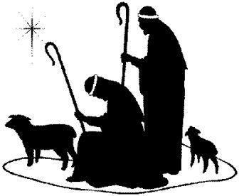 20+ Christmas Clipart Black And White Religious