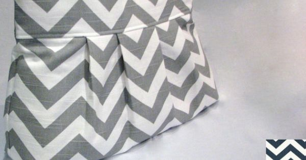 pleated diaper bag tote medium chevron design your own pick your color double shoulder. Black Bedroom Furniture Sets. Home Design Ideas
