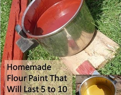 **Homemade Flour Paint That Will Last 5 to 10 Years For Outdoor