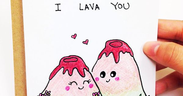 I Lava You Funny Love Card Cute Love Card I By