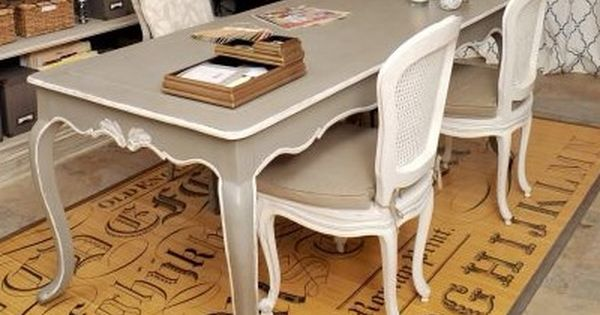 Elegant French Dining Table Beautifully Transformed With Annie Sloan Chalk Paint Linen