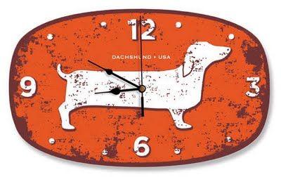 Dachshund Clock Clock Dachshund Dachshund Love