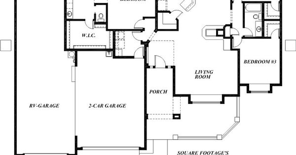 Sunset homes of arizona home floor plans custom home Garage with living quarters floor plans