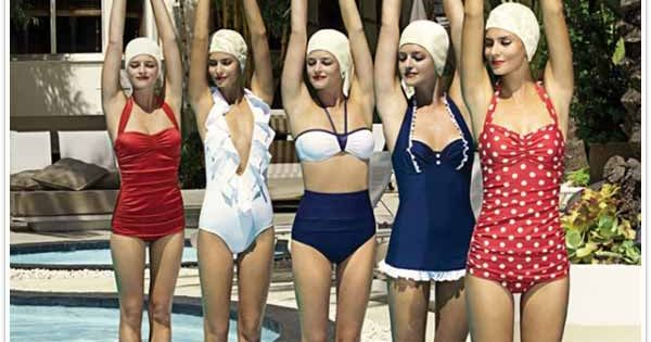 Vintage Bathing Suits: makes me smile and think of fun summer times!