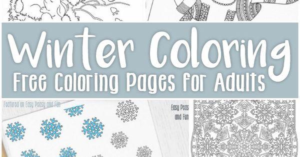 Free Printable Winter Coloring