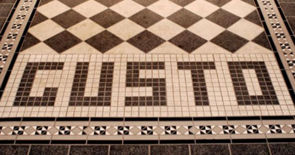 Custom Mosaic Floor Tiles And Checkerboard Showcasing Company Name And  Branding. Excellent Way To Welcome
