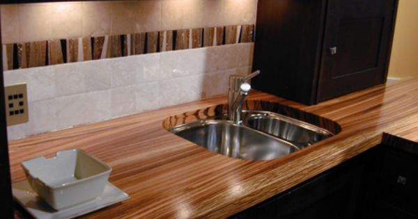 1 1 2 Zebrawood Countertop Natural Color Eased Square Edge