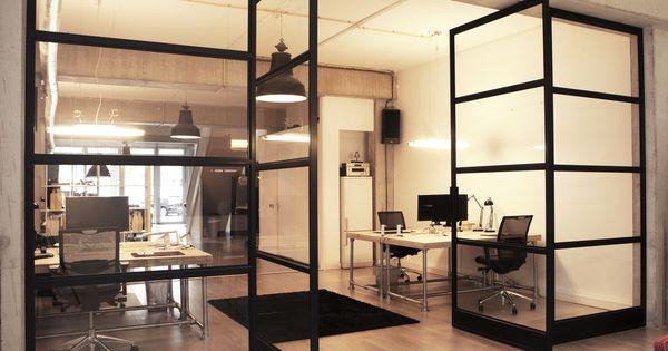 Stalen design fritsjurgens taatsdeuren een project voor een kantoor in amsterdam - Kantoor transparant glas ...