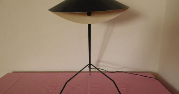 rare lampe bureau tripode serge mouille ancienne 1950 lamp mid century moderne ebay antics. Black Bedroom Furniture Sets. Home Design Ideas
