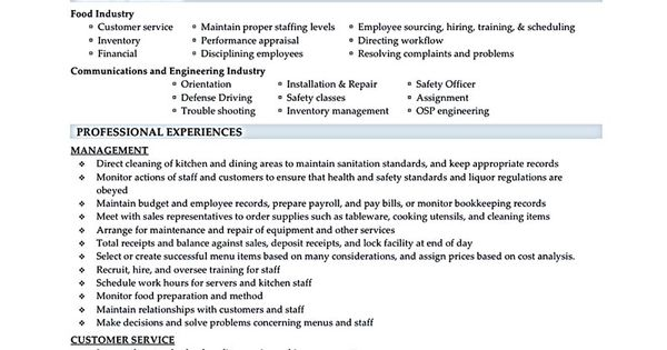 Restaurant Manager Resume Will Ease Anyone Who Is Seeking