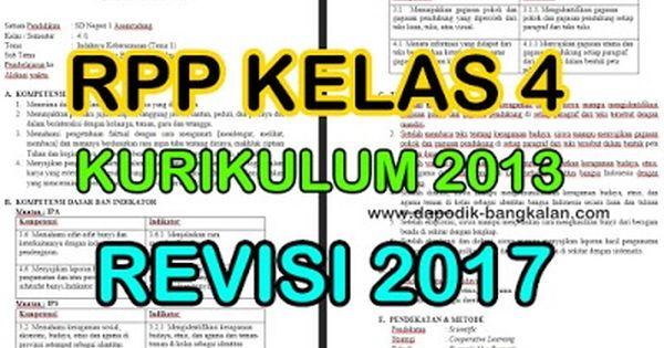 Download Rpp Kelas 4 Kurikulum 2013 K13 Revisi Tahun 2017 Semester Satu Ganjil Matematika Kelas 4 Kurikulum Belajar