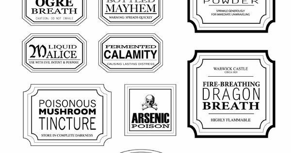 Free Halloween Printable Apothecary Jar Labels Toil