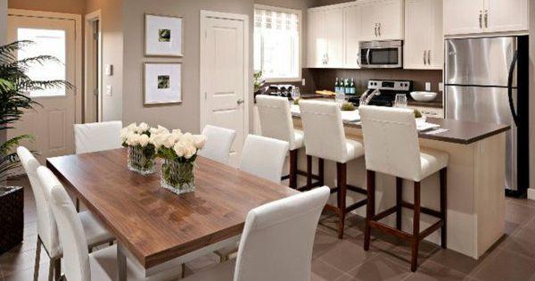 La cuisine ouverte sur la salle manger 55 photos for Centre de table de cuisine