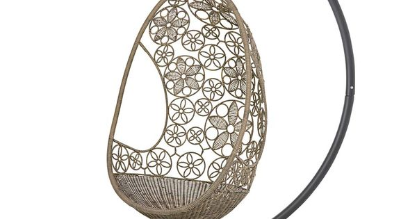 Woven Flower Pod Hanging Chair And Stand Collection