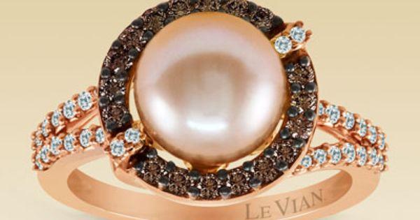 Clearance Le Vian 14k Gold Diamond Cultured Pearl Ring Cultured Pearl Ring Dream Jewelry Diamond