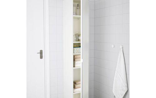 Lillangen High Cabinet White Aluminum 11 3 4x15x70 1 2