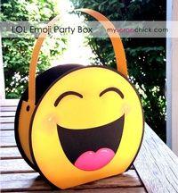 Lol Emoji Party Box Dulceros Dia Del Nino Fiesta De Cumpleanos
