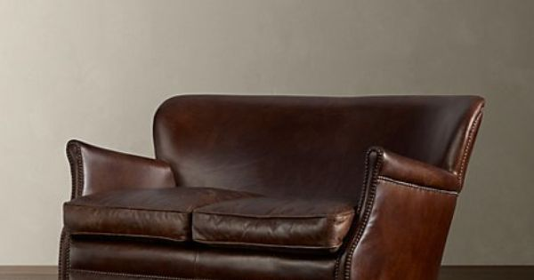 Comfy leather couch.