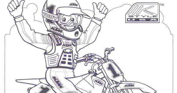 KTM Dirt Bike Coloring Pages