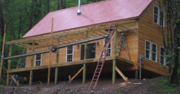 Dave and kim 39 s 1 1 2 story 20x40 cabin pics future home for 20x40 cabin