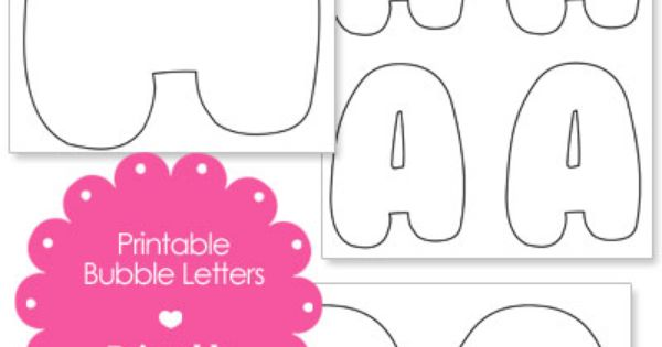 43405ec07b5bc14569ca18a5c7e5e9eb Template Bubble Letters So on for word brooke, small printable, alphabet cut out,