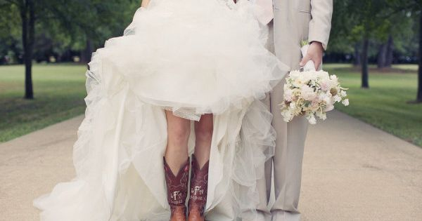 Cute cowgirl boots for the bride