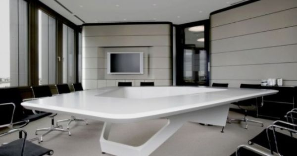 Masculine Meeting Room With White Table Office Design Office Design Pinterest Conference