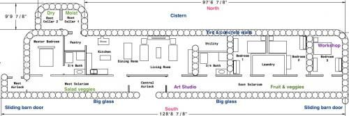 4 Bedroom Earthship Plans Www Myfamilyliving Com Earthship Earthship Plans Earthship Home Plans