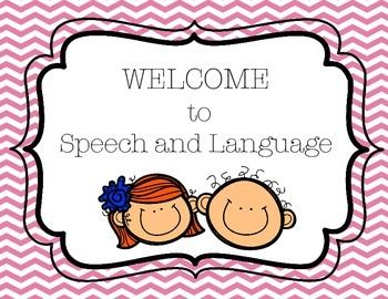 Speech and Language Welcome/Rules Signs | Speech, language, Speech ...
