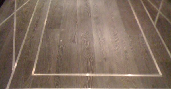 Wood Floor With Metal Inlay Design Detail Pinterest