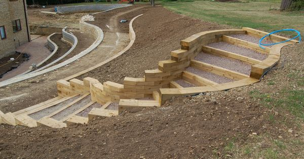 Curved retaining wall ideas we designed sweeping curved for Curved garden wall ideas