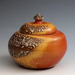 Soda Fired Lidded Jar