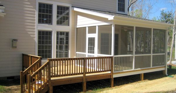 Shed roof patio deck pinterest decks article html Shed with screened porch