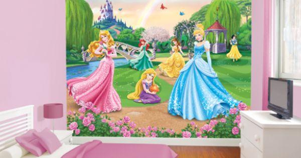 Disney princess 42087 barbie behang wallpaper meisjeskamer kinderkamer kinderkamer - Roze meid slaapkamer ...