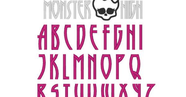 Monster High Font Fun Fonts Amp Lettering Styles