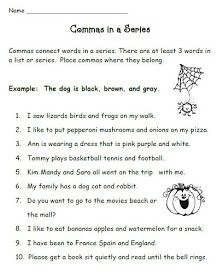 This Week We Are Studying Commas In A Series Head On Over To Swimming Into Second Grade To Chec Punctuation Worksheets Commas In A Series Grammar Worksheets Quotation marks worksheets second grade